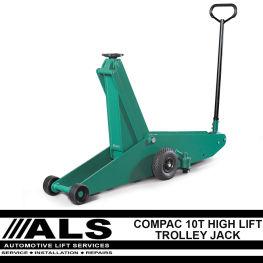 Compac High Lift Trolley Jack - 10 Tonne